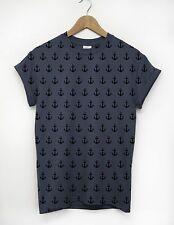 Anchor Pattern All Over T Shirt Sailor Nautical Sailing Indie Fashion Men Urban