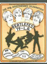 The Beatles Beatlefest convention 1979 pre program RARE Los Angeles