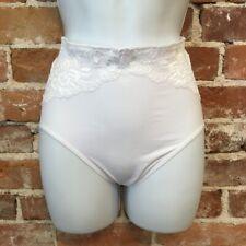 Rhonda Shear White Lace Overlay Seamless Ahh Brief Panties New
