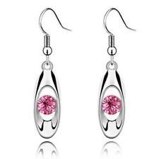 Dangle Hook Earrings Jewelry Dd Women Silver Crystal Long Drop