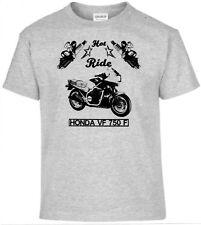 T-Shirt, Honda VF 750 F, Pinup, Moto, Moto, Oldtimer, Youngtimer