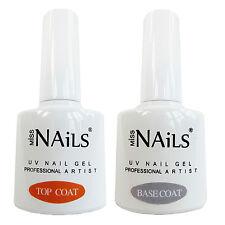 MISS NAILS ® Top E Base Coat per Uv Led Nail Gel Immersione OFF polacco BULK PACK 10ml