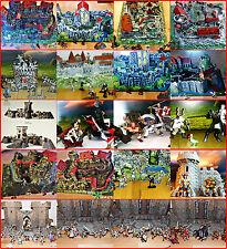 GRANDE ANTIGUO CABALLERO Burg / CASTLE Selección ELASTOLIN pintado a mano + /