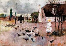 Charles Conder - Tea-time 1888 Museum Grade Australian Art Poster, Canvas Print