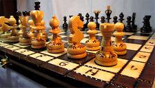 échec, Décoratifs Jeu d'échecs PERLE Table d'échecs 34 x 34 cm bois