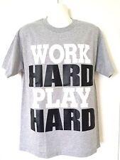 Work Hard Play Hard Gray T-Shirt