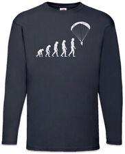 Paragliding Evolution Langarm T-Shirt Fun Paraglider Coach Human Drachenflieger
