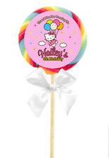 12 Hello Kitty Balloon Dreams Birthday Personalized 2.5 inch Lollipop Stickers