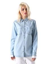 Diesel c-lut-a Camicia Blusa De Mujer Camisa vaquera denim