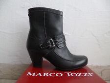 Marco Tozzi Damen  Stiefeletten Stiefelette schwarz  Echtleder NEU!