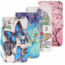 Apple iPod Touch 5 6 Wallet Tasche 3D Motiv Muster Handschlaufe Klapp Etui Bunt