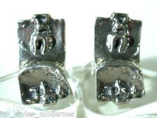 Silber MANSCHETTENKNÖPFE ° Oly - Teka - Relo Qualität ° sixties silver cufflinks
