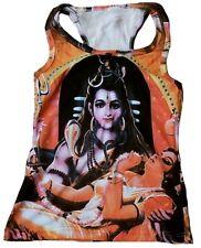 SHIVA & PARVATI Hindu Tattoo Art Goa Trance DJ Designer WoW TANK TOP SHIRT S/M
