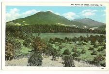 The Peaks of Otter Bedford Virginia VA  Postcard