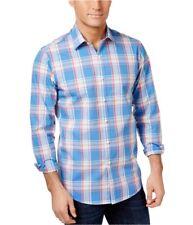 Club Room Mens Plaid Button Up Shirt