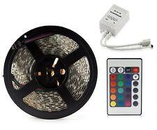 Flexible RGB 150-300 LED Strip Light Kit Waterproof Tape Multi-coloured 5m 5050