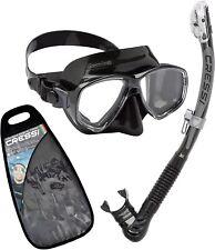 Cressi Marea Alpha Dry Mask Snorkel Set in Black, Blue, Pink