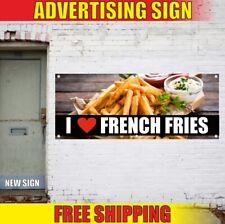 French Fries Advertising Banner Vinyl Sign Flag restaurant fresh food cafe bar