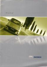 DAEWOO MATIZ 2001-03 UK Opuscolo Vendite sul mercato 0.8 1.0 Se Se +