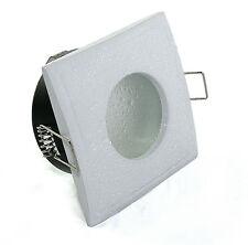 5W = 50Watt LED Aqua Square Einbauleuchte IP65 Bad & Dusche eckig 230Volt GU10