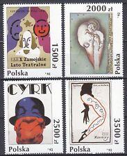 POLAND 1992 **MNH SC#3112/15 Posters (I) - circus poster