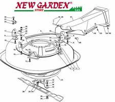 demonté plat de coupe rouler sur la tondeuse EL63 XE75VD CASTELGARDEN 2012-13
