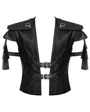Punk Rave Mens Vest Waistcoat Black Faux Leather Goth Steampunk Victorian Armour