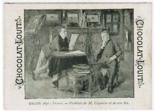 CHROMO  CHOCOLAT LOUIT SALON 1891  M.COQUELIN ET FILS