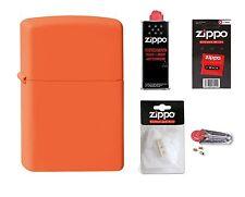 ZIPPO Feuerzeug Orange Matte Matt mit oder ohne Zubehör nach Wahl NEU