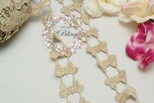 10 Bronze gold, SMALL butterfly motif trim, DIY Embellishments/ Scrapbooking