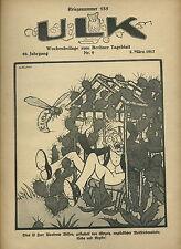 Ulk semaines supplément au de Berlin dealer guerre numéro 135 (1917) OLD MAGAZINE