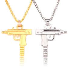 Unisex Men Machine Gun Pendant Necklace Long Chain Fashion Jewelry UK