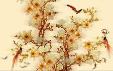 3D Bird large tree flowers wallpaper Decal Dercor Home Kid Nursery Mural  Home