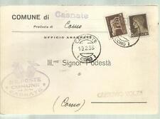 COMUNE DI CASNATE PROVINCIA DI COMO  PODESTA' CARTOLINA SPEDITA 1935