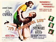 It's a Wonderful Life 1946 Retro Movie Vintage Giant Print POSTER Affiche