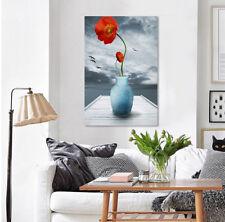 3D Red Flowers Vase 53 Wall Stickers Vinyl Wall Murals Print AJ WALLPAPER CA