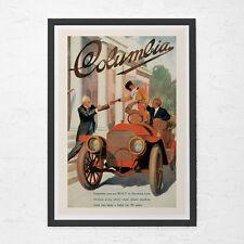 ANTIQUE CAR POSTER - Columbia Car Poster - Vintage Car Poster, High Quality Repr