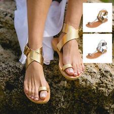 Fashion Women Flat Buckle Flip Flops Sandals Thong Slippers Summer Beach Shoes