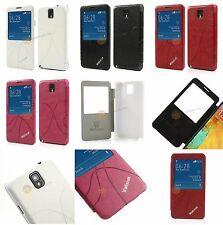 Flip Leder Tasche mit Sichtfenster für Samsung Galaxy Note 3 N9000, N9005, N9002