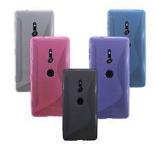 Sony Xperia XZ2 /// Zubehör Handyhülle Bumper FARBE frei wählbar Pink Blau Lila
