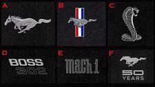 New! 1964-1973 Mustang Floor Mats Heavy Plush Lloyd Mats 4pc Set Choice of Logo