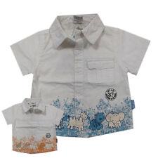%%Teidem Little Boy Star % Hemden Hemd kurzarm Natur Leinen Gr.68,74,80,86 NEU!