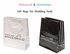Wedding Gift Bags Bridesmaid Groomsman Maid of Honor Best Man Thank You - 12 BAG