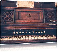 Antiguo Piano Foto en Lienzo Decoración de Pared Impresión Artística