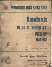 BAMFORDS BL58 & SUPER 58 BALER OPERATORS MANUAL