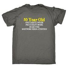 50 ANNO VECCHIO Uno Attento Proprietario T-shirt Tee Regalo di Compleanno Scherzo Regalo Di Compleanno VECCHIO