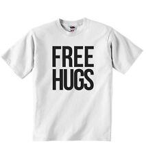 Free Hugs - New Personnalisé Garçons Filles T-shirt T-shirts - Blanc Coton Doux