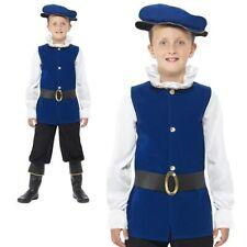 Boys Tudor Medieval Costume Kids Bok Week Deluxe Fancy Dress Oufit