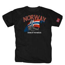 Norway Norwegen Nordmann Wikinger Retro Flag T-Shirt S-4XL