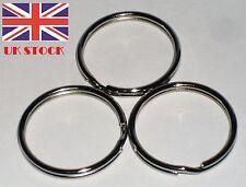 KEY RING 25mm DOUBLE SPLIT NICKEL PLATED STEEL CORROSION RESISTANT UK STOCK